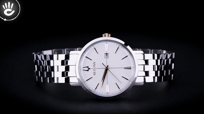 Review đồng hồ Bulova 98M130 sắc trắng điềm đạm, thanh lịch - Ảnh 1