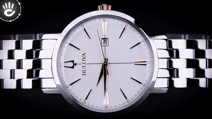 Review đồng hồ Bulova 98M130 sắc trắng điềm đạm, thanh lịch - Ảnh 4