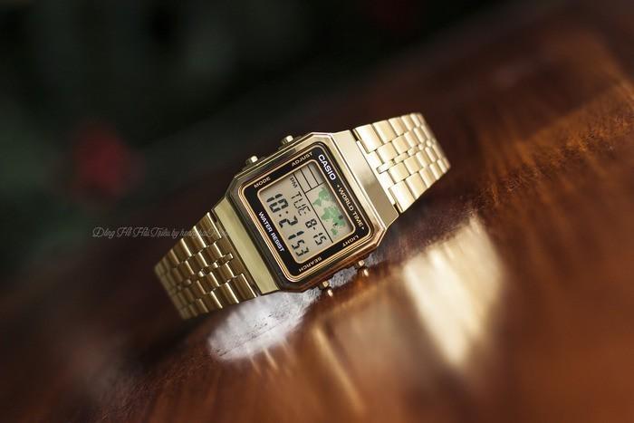 Review đồng hồ Casio A500WGA-1DF: Giá rẻ chất lượng cao. - Ảnh: 4