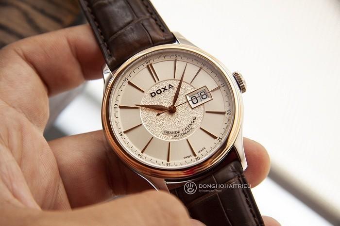 Đồng hồ Doxa D187RIY, đẳng cấp mặt đồng hồ vàng khối 18k - Ảnh 2
