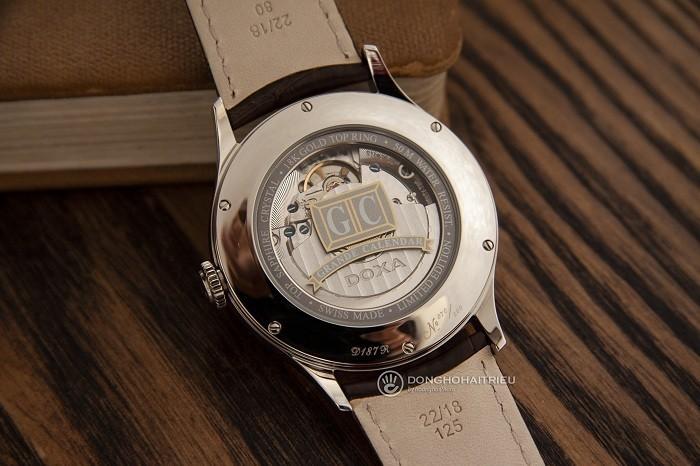 Đồng hồ Doxa D187RIY, đẳng cấp mặt đồng hồ vàng khối 18k - Ảnh 4