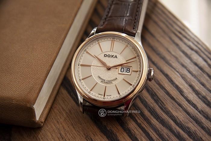 Đồng hồ Doxa D187RIY, đẳng cấp mặt đồng hồ vàng khối 18k - Ảnh 5