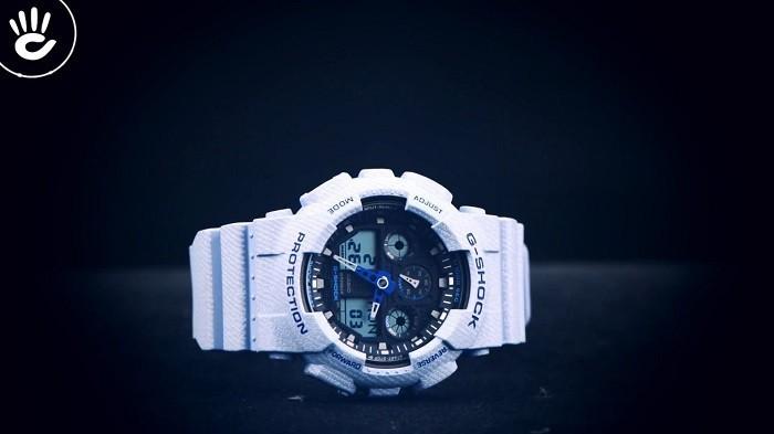 Review đồng hồ G Shock GA-100DE-2ADR: Gọn nhẹ và thời trang - Ảnh 1