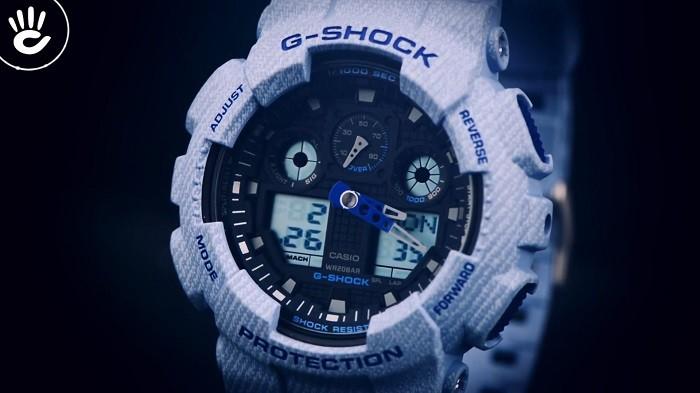 Review đồng hồ G Shock GA-100DE-2ADR: Gọn nhẹ và thời trang - Ảnh 2