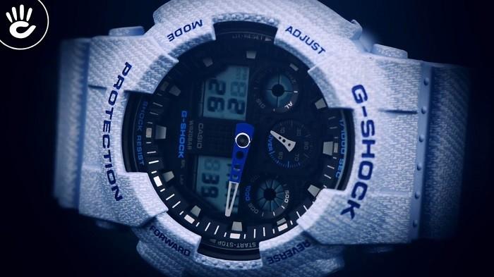 Review đồng hồ G Shock GA-100DE-2ADR: Gọn nhẹ và thời trang - Ảnh 4