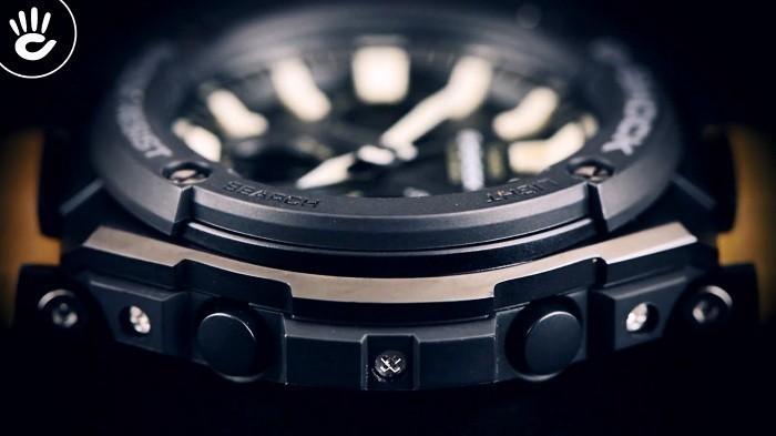 Review đồng hồ G-Shock GST-S120L-1BDR: Dây da độc lạ ngầu - Ảnh 4