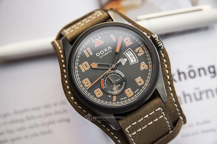 Doxa D213GGY, đồng hồ phi công, dây bund dưới mặt đồng hồ- Ảnh 2