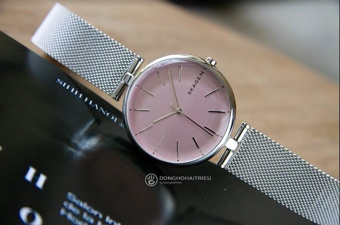 Review đồng hồ Skagen SKW2708 màu hồng nữ tính, quyến rũ - ảnh 1