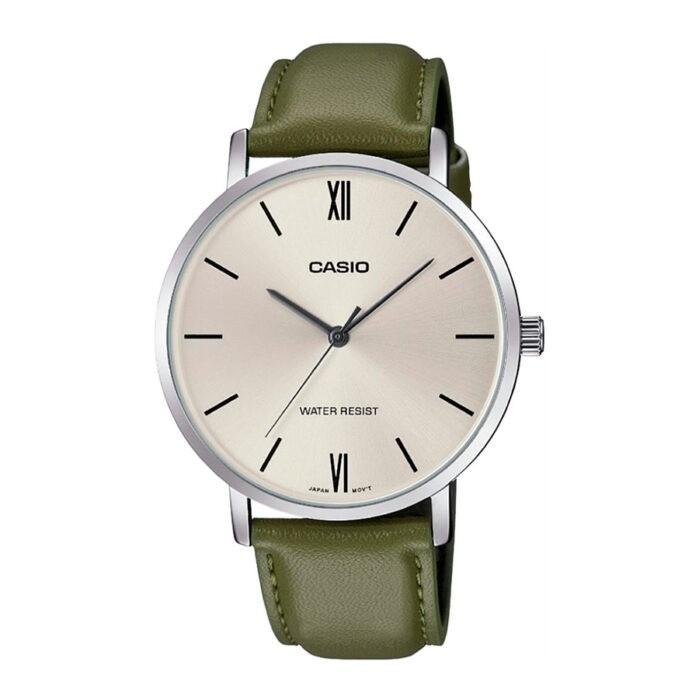 Đồng hồ nam Casio MTP-VT01L-3BUDF hàng trưng bày, cam kết zin 100%, tình trạng bị cấn viền vị trí 9-10h, Full bảo hành & phụ kiện đi kèm 1