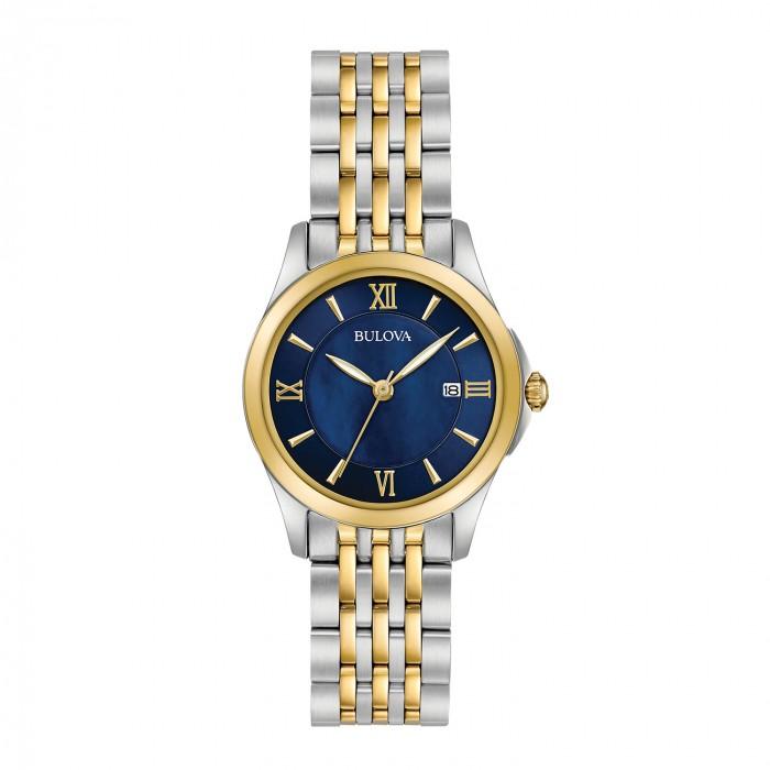 Review đồng hồ Bulova 98M124: mặt số gam màu xanh độc đáo 1
