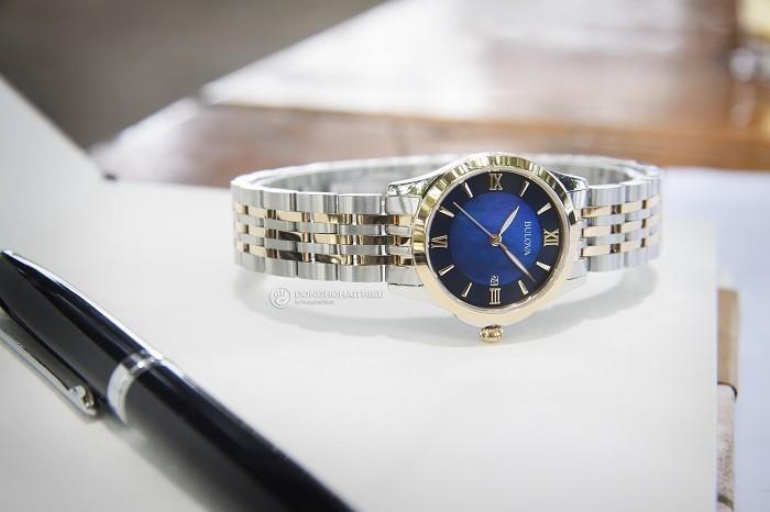 Review đồng hồ Bulova 98M124: mặt số gam màu xanh độc đáo - ảnh 2