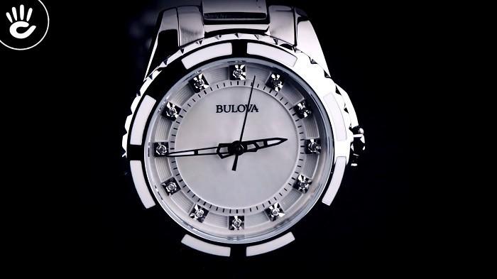 Đồng hồ Bulova 96P144: Phiên bản đính 12 viên kim cương-2
