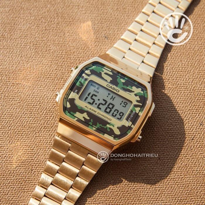Đồng hồ Casio A168WEGC-3DF Kính Nhựa 5