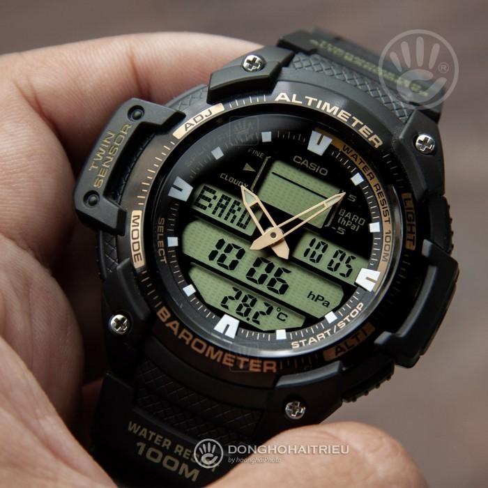 Đồng hồ Casio SGW-400H-1B2VDR Kính Nhựa 3
