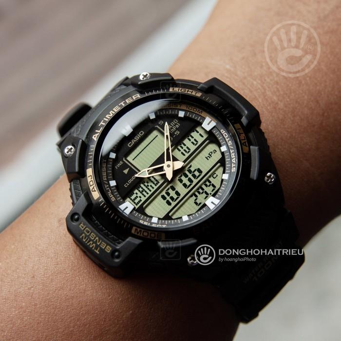 Đồng hồ Casio SGW-400H-1B2VDR Kính Nhựa 2