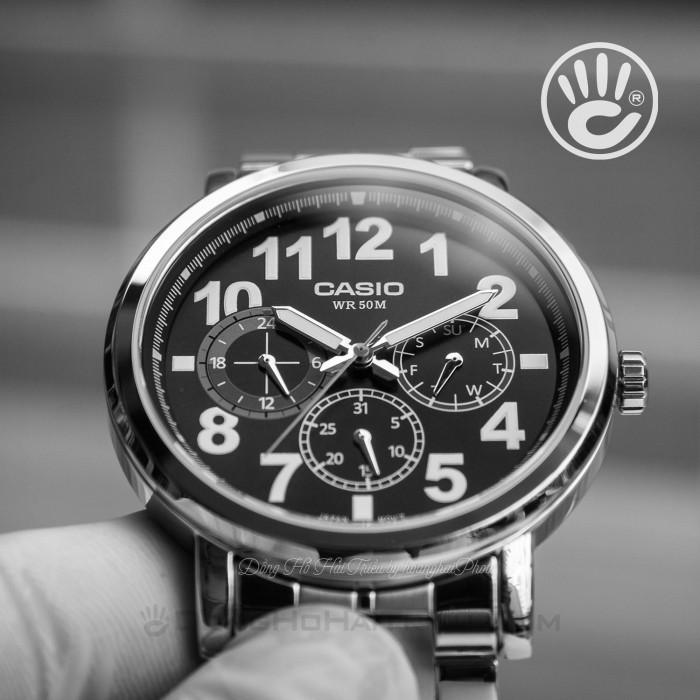 Đồng hồ Casio MTP-E309D-1AVDF, Dạ Quang 5
