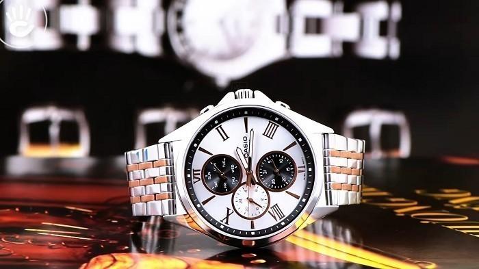 Review đồng hồ Casio MTP-E316RG-7AVDF: đồng hồ 6 kim độc đáo-1