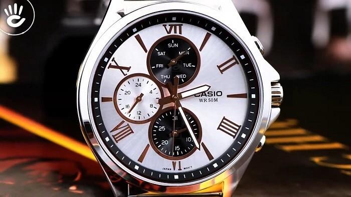 Review đồng hồ Casio MTP-E316RG-7AVDF: đồng hồ 6 kim độc đáo-2
