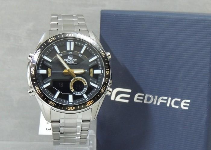 Đồng hồ Casio EFV-C100D-1BVDF: Tích hợp mặt điện tử độc đáo-5
