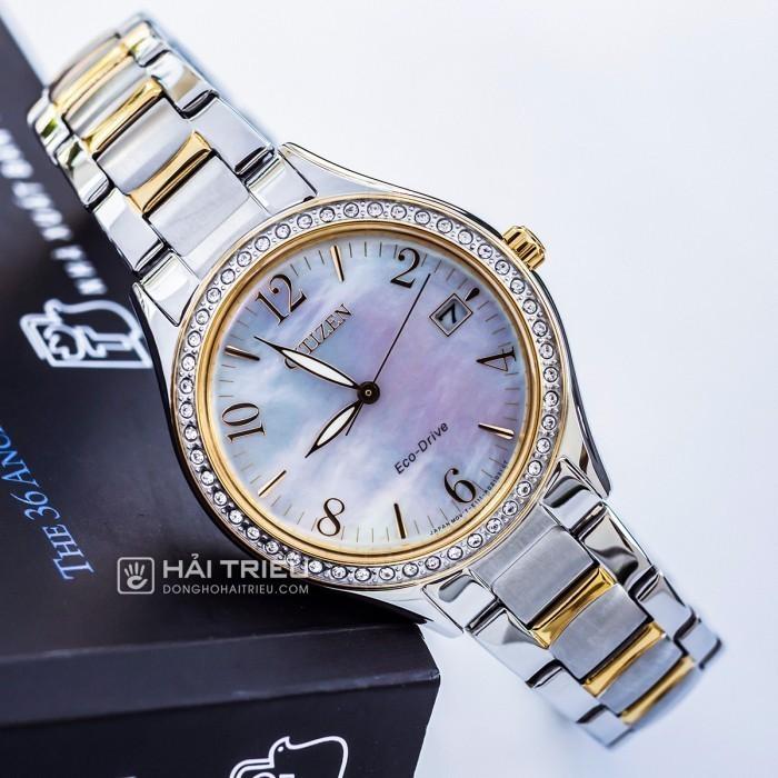 Đồng hồ Citizen EO1184-81D khảm xà cừ, đính pha lê cao cấp 3