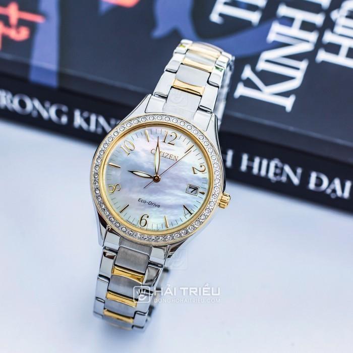 Đồng hồ Citizen EO1184-81D khảm xà cừ, đính pha lê cao cấp 2