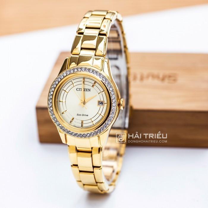 Đồng hồ Citizen FE1122-88P, Bộ Máy Năng Lượng Ánh Sáng, Siêu Mỏng 3