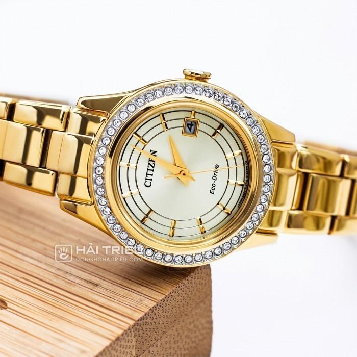 Đồng hồ Citizen FE1122-88P, Bộ Máy Năng Lượng Ánh Sáng, Siêu Mỏng 4