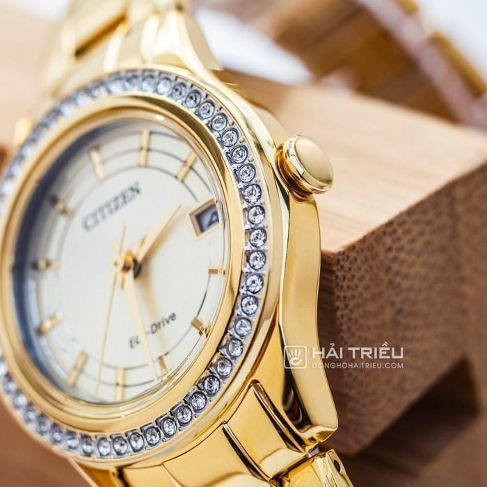 Đồng hồ Citizen FE1122-88P, Bộ Máy Năng Lượng Ánh Sáng, Siêu Mỏng 5