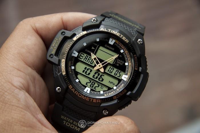 Đồng hồ Casio SGW-400H-1B2VDR: Chống nước 10ATM ấn tượng-1
