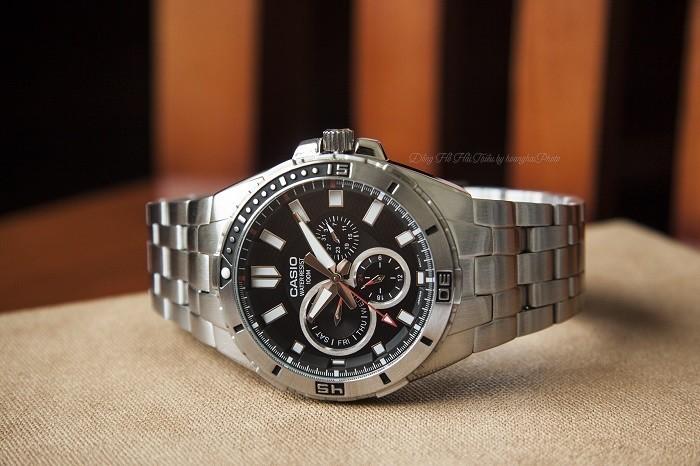 Đồng hồ Casio MTD-1060D-1AVDF: Vòng benzel xoay siêu đẹp-1