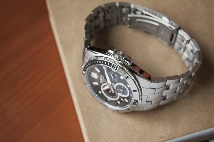 Đồng hồ Casio MTD-1060D-1AVDF: Vòng benzel xoay siêu đẹp-4
