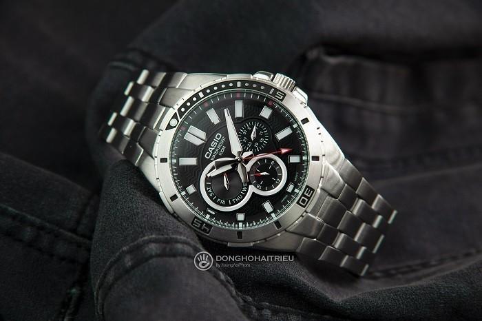 Đồng hồ Casio MTD-1060D-1AVDF: Vòng benzel xoay siêu đẹp-5