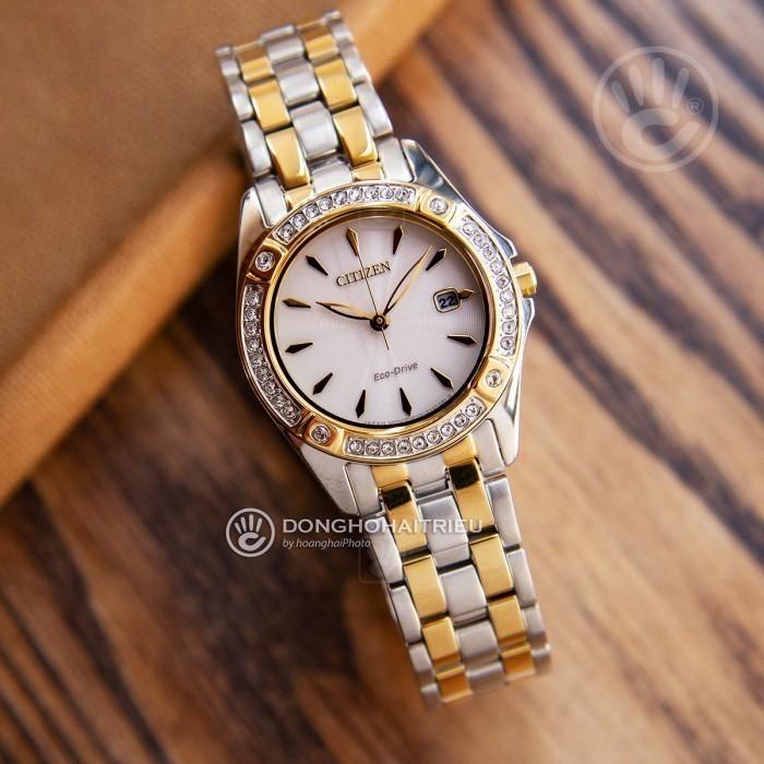 Đồng hồ Citizen EW2354-53P Kính Sapphire, Bộ Máy Năng Lượng Ánh Sáng 2