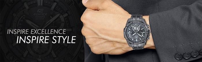 Đồng hồ nam Casio EFR-559GY-1AVUDF phiên bản dây kim loại - Ảnh 1