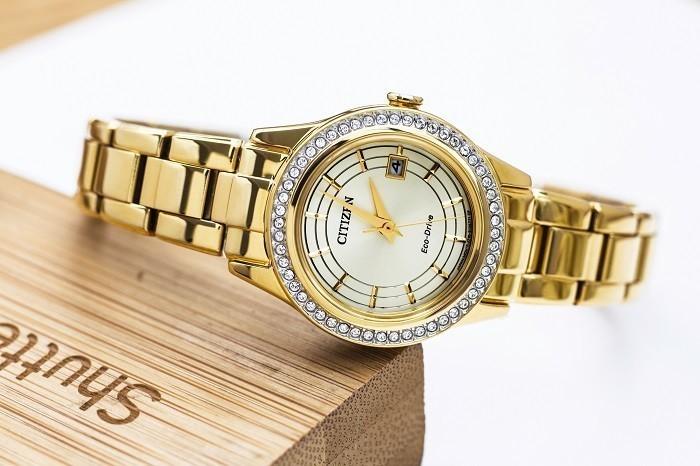 Đồng hồ Citizen FE1122-88P niềng đính đá pha lê Swarovski - Ảnh 1