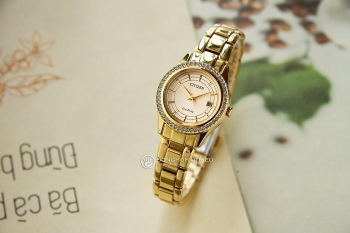 Đồng hồ Citizen FE1122-88P niềng đính đá pha lê Swarovski - Ảnh 2
