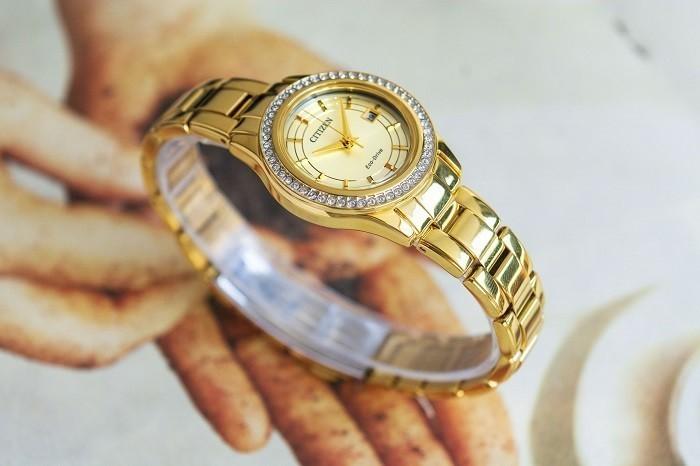 Đồng hồ Citizen FE1122-88P niềng đính đá pha lê Swarovski - Ảnh 5