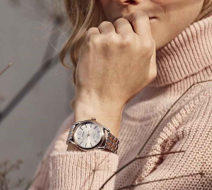 Đồng hồ Citizen FE6080-71X vỏ máy mạ bạc vô cùng sang trọng - Ảnh 1