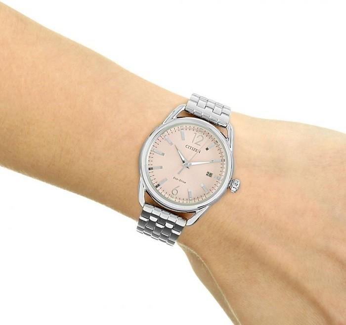 Đồng hồ Citizen FE6080-71X vỏ máy mạ bạc vô cùng sang trọng - Ảnh 5