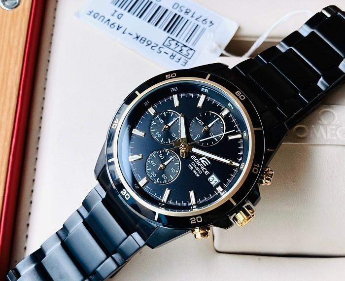 Đồng hồ nam Casio EFR-543BK-1A9VUDF kháng nước đến 10 ATM- Ảnh 1