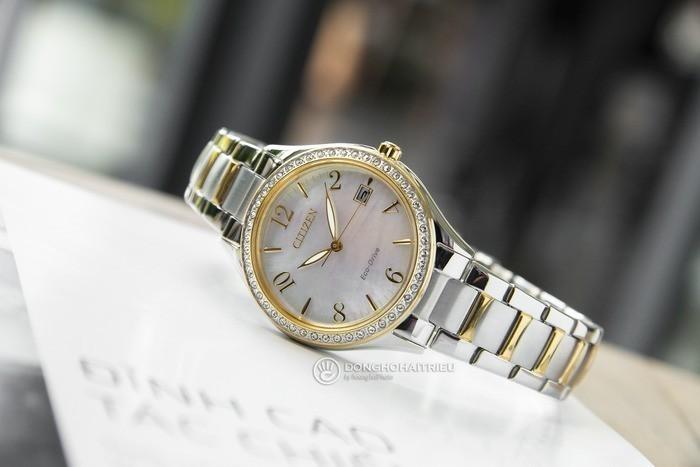 Đồng hồ Citizen EO1184-81D khảm xà cừ, đính pha lê cao cấp Ảnh 2