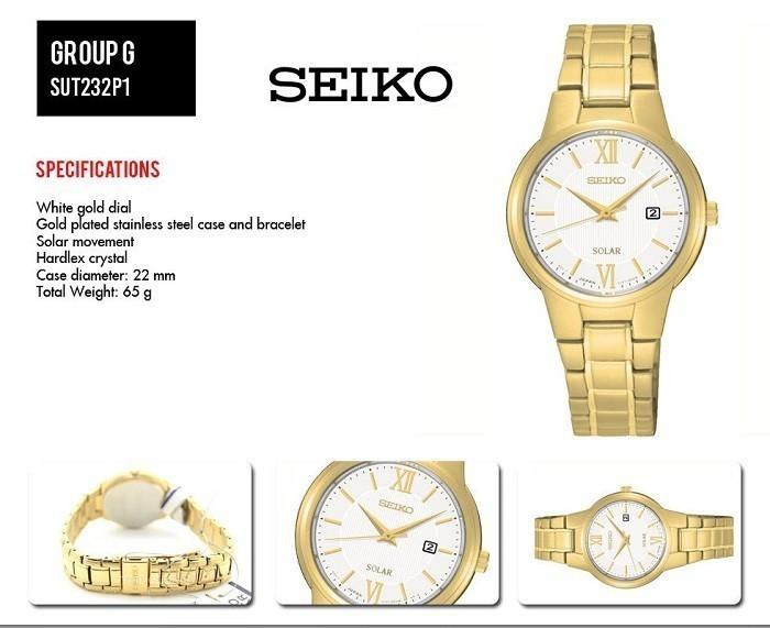 Đồng hồ Seiko SUT232P1 sang trọng với thiết kế màu gold - Ảnh 1