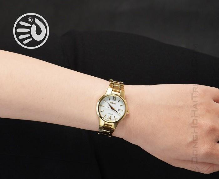 Đồng hồ Seiko SUT232P1 sang trọng với thiết kế màu gold - Ảnh 2