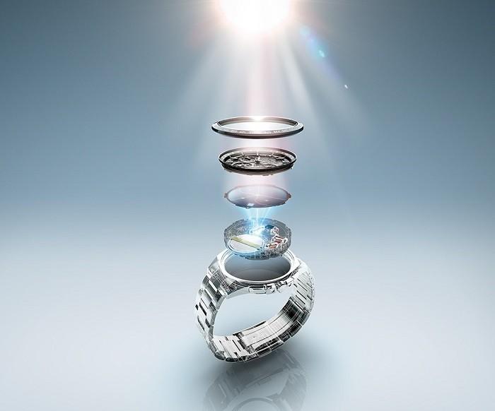 Đồng hồ Seiko SUT300J1 kính xà cừ, máy năng lượng ánh sáng - Ảnh 4