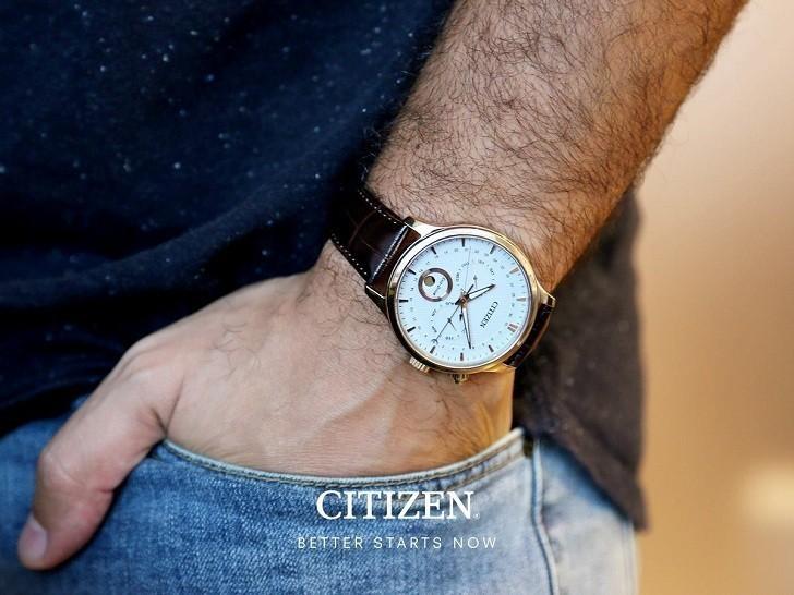 Đồng hồ Eco-Drive Citizen AP1052-00A năng lượng ánh sáng - Ảnh 3