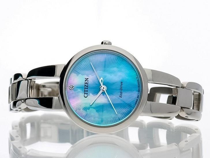 Đồng hồ Eco-Drive Citizen EM0430-85N năng lượng ánh sáng - Ảnh 6